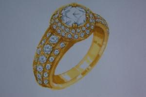 Gold-Ring-1N - redering